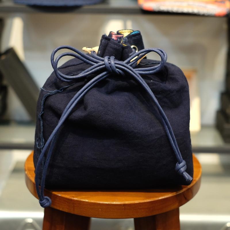 KUON(クオン) 襤褸・エルメスヴィンテージスカーフ 信玄袋(巾着袋) その4