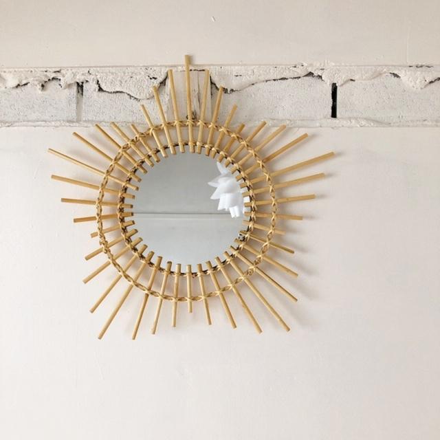 Bamboo Mirror バンブー壁掛けミラー W46cm