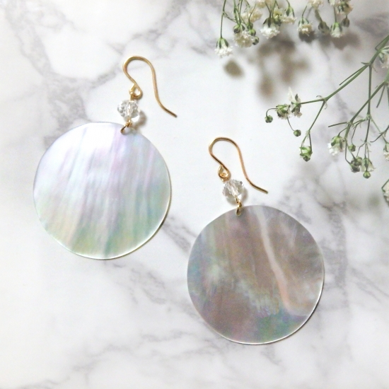 Mother of Pearl Shell Round Pierce