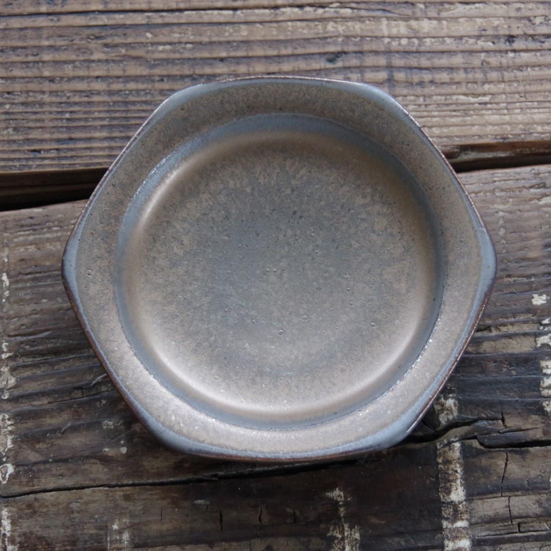 やちむん【空~KOO~】六角皿 3.5寸