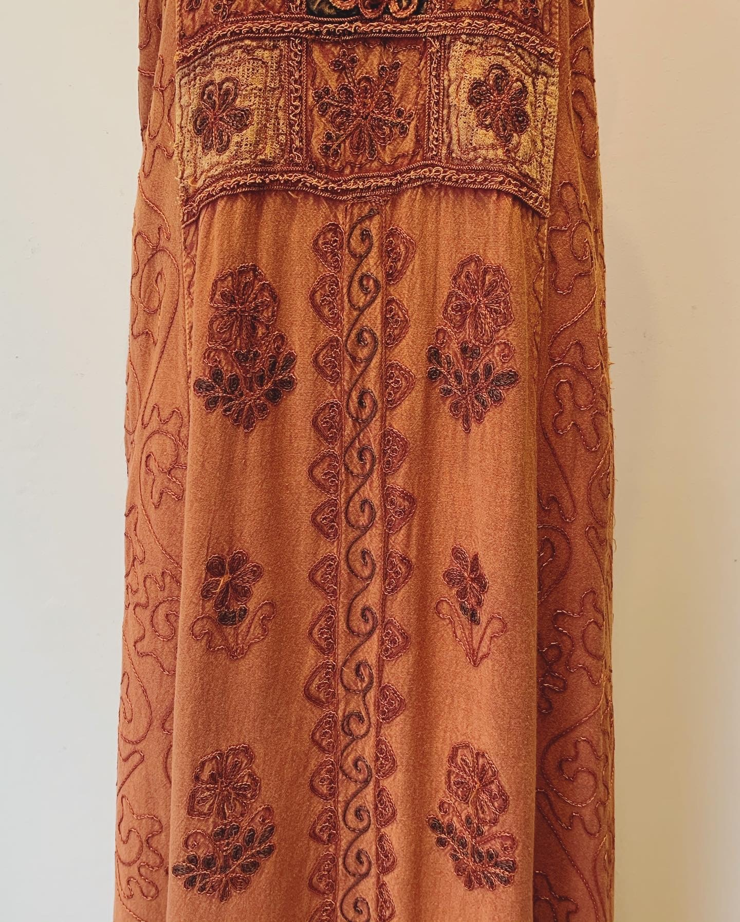 vintage indian embroidery onepiece