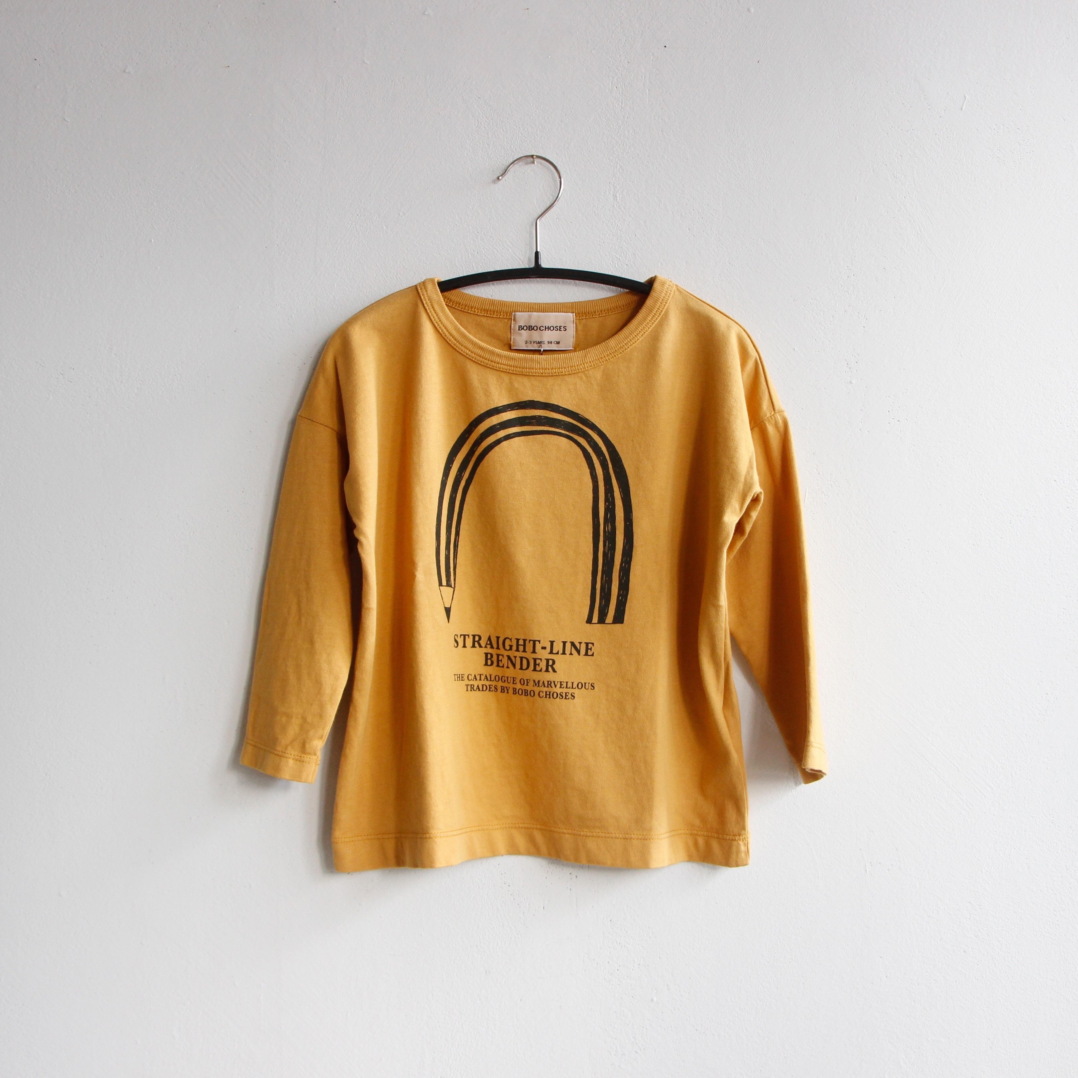 《BOBO CHOSES 2020AW》Straight Line Bender long sleeve T-shirt / 2-9Y