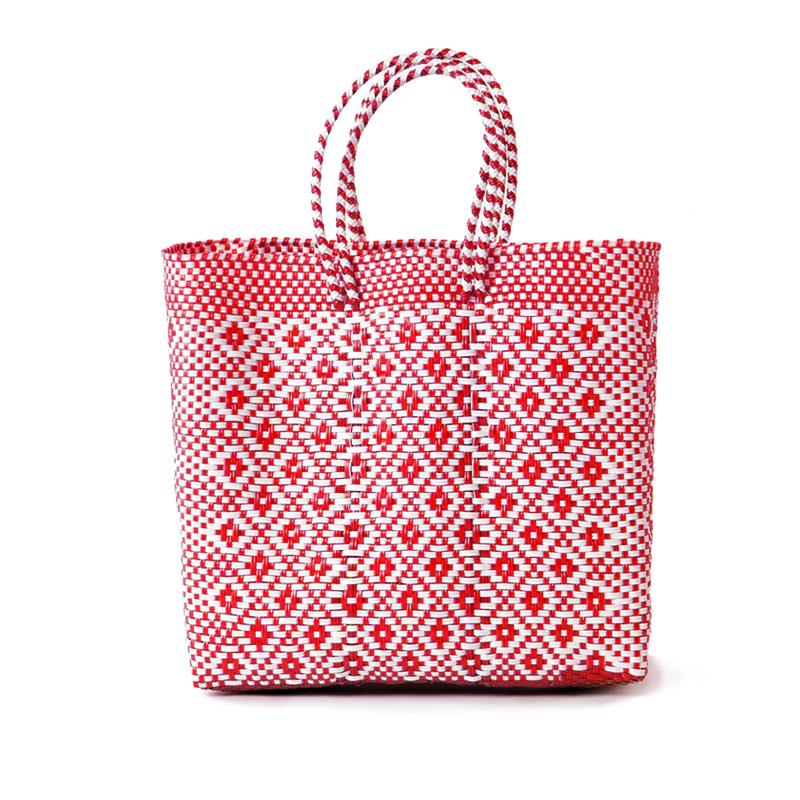 MERCADO BAG ROMBO - White x Red(M)