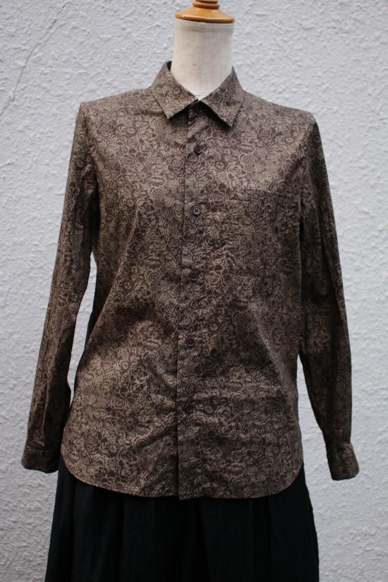 YAECA WRITE WOMEN ボタンシャツ MONO GATSBY(dark brown) #98153