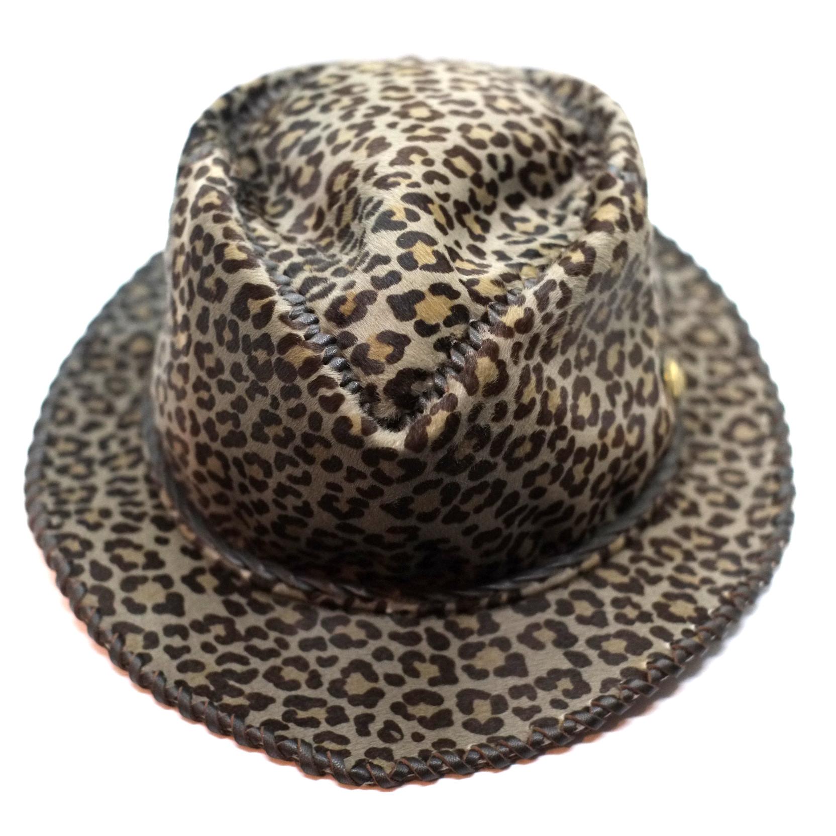 Premium-Bal-Hat-Neo レオパード(真鍮ロゴコンチョ付)・1個限定(Mサイズ58cm)