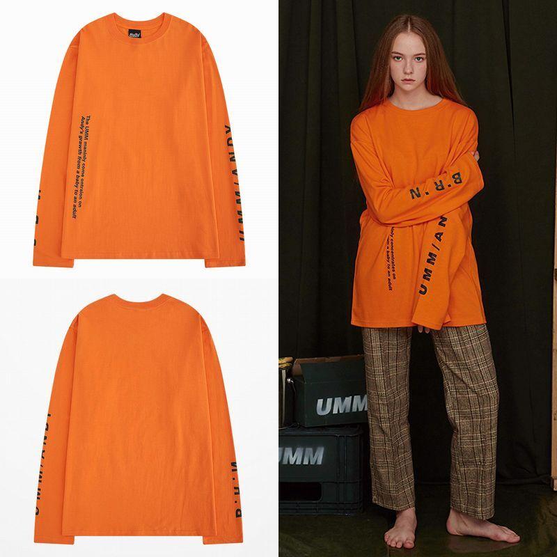 ユニセックス 長袖 Tシャツ メンズ レディース 袖プリント オーバーサイズ 大きいサイズ ストリート
