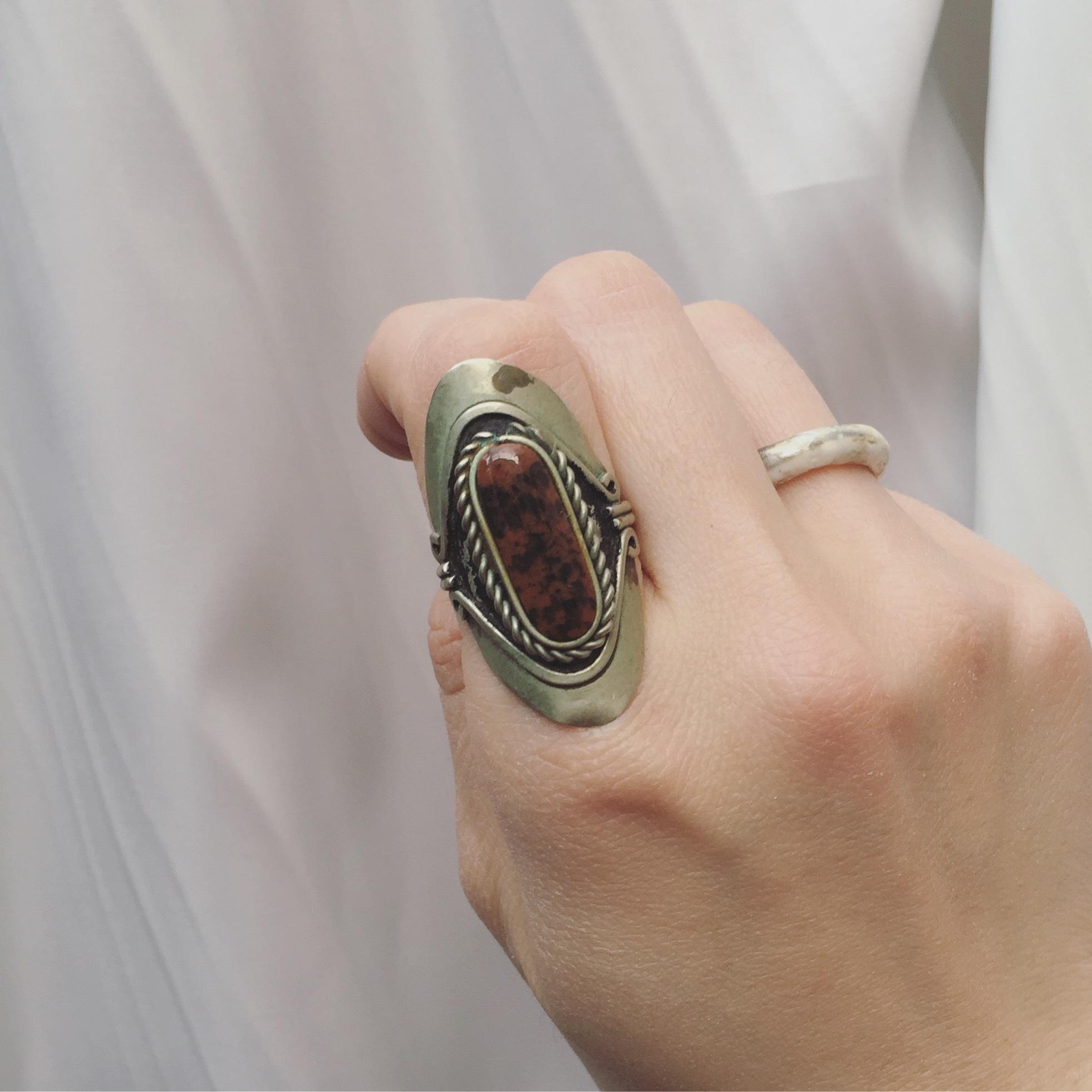 vintage jasper ring