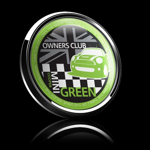 ドームバッジ(CD0378 - MINI OWNERSCLUB GREEN) - 画像2