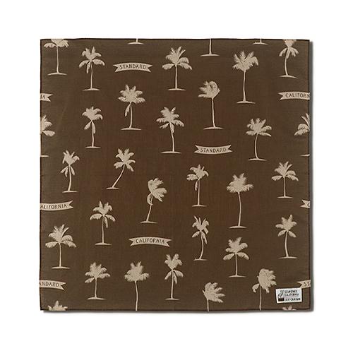 STANDARD CALIFORNIA #SD Palm Tree Bandana Fabric Designed by Jeff Canham Brown