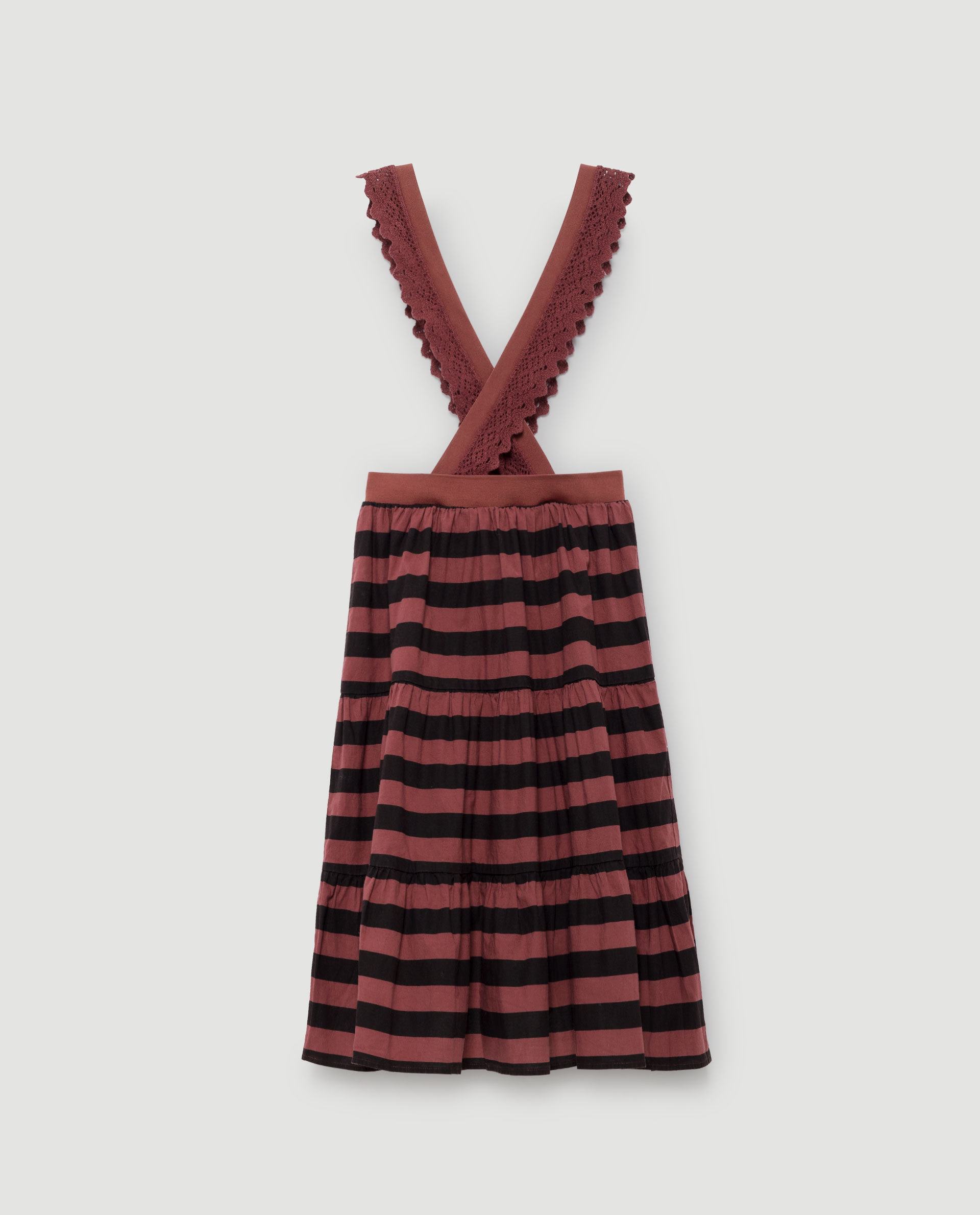 《THE ANIMALS OBSERVATORY 2017AW》GIRAFFE KIDS SKIRT / RED GARNET STRIPES / 6・8Y