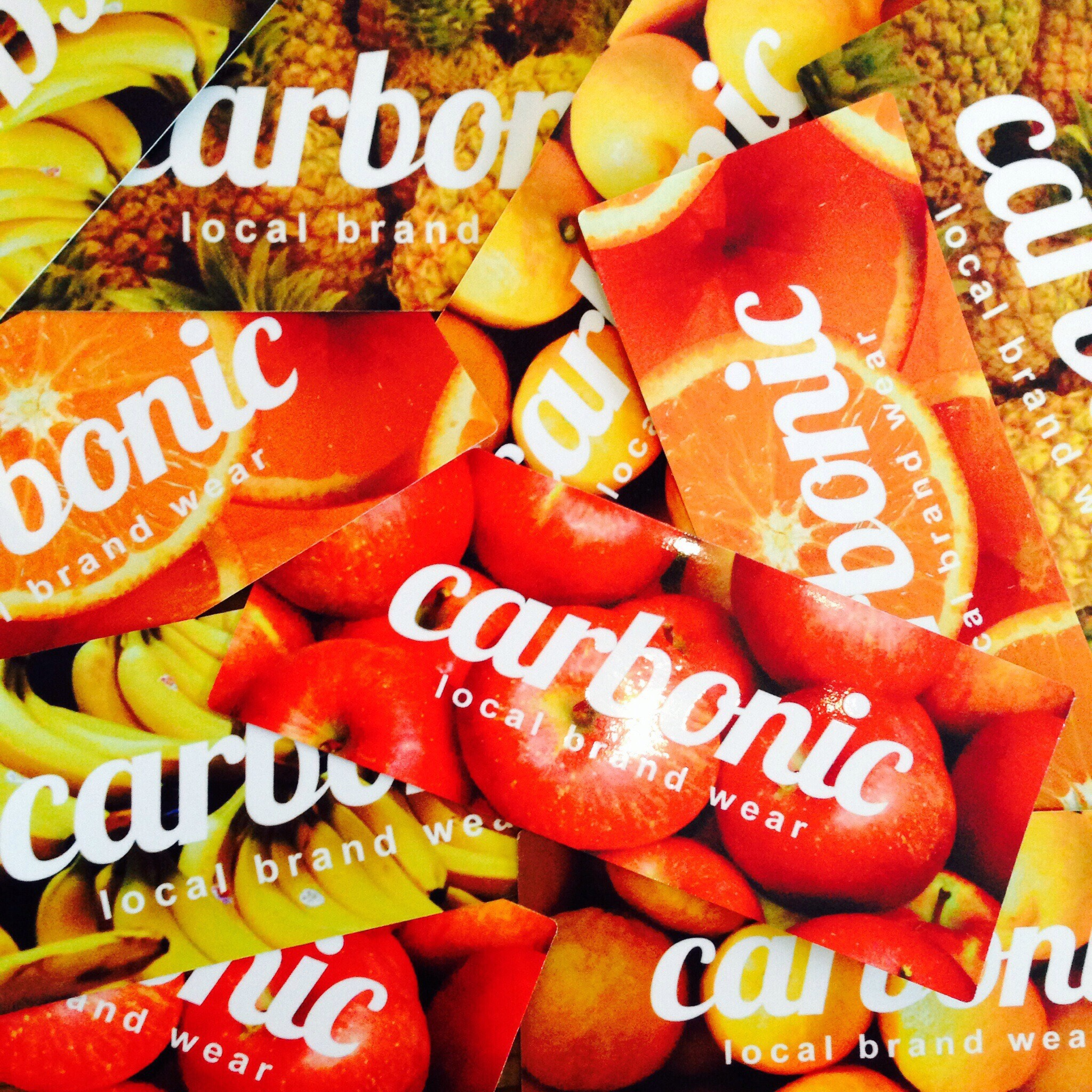 carbonic FRUITS sticker