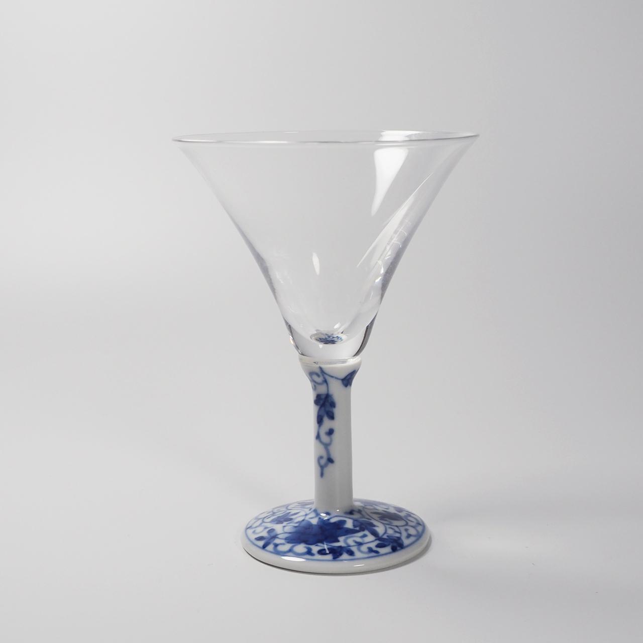 カクテルグラス (染付華唐草) 20-004-B