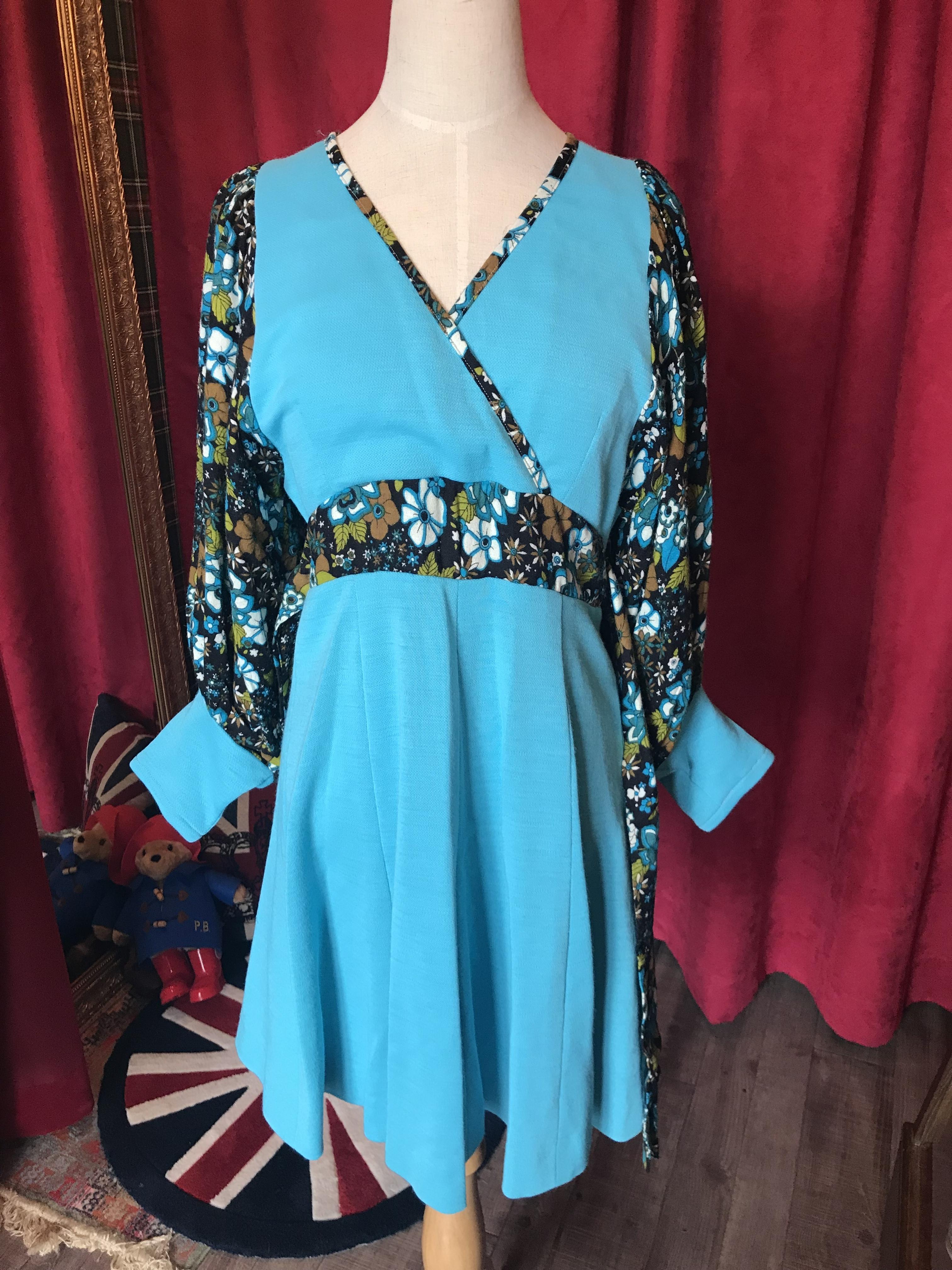 英国60's Vintage dress ワンピース