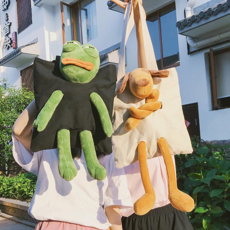 【goods】カジュアル配色キャンバスバッグ14502508