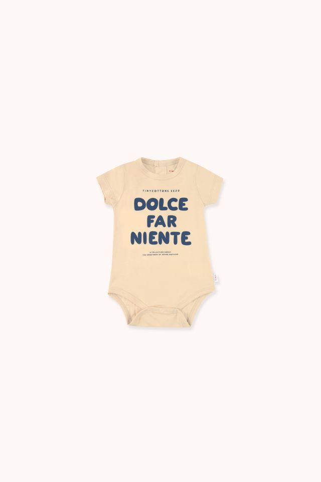 """TINYCOTTONS タイニーコットンズ """"DOLCE FAR NIENTE"""" BODY size:6M(60-70)・9M(70-80)"""