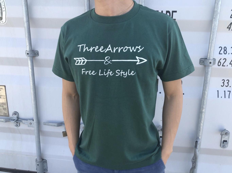 ThreeArrowsロゴ Tシャツ(green)