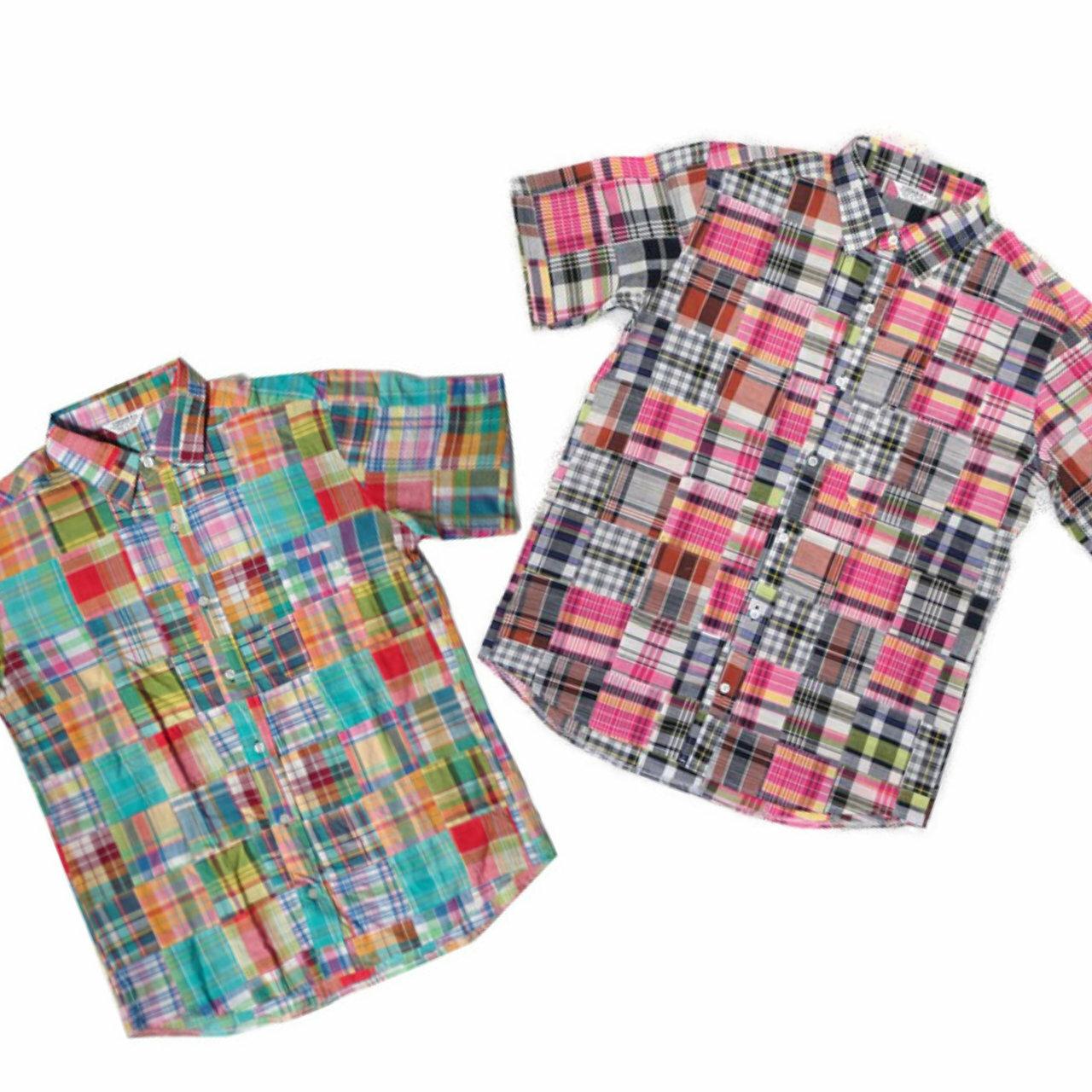 Patchwork S/S Shirts | パッチワーク チェック 半袖シャツ 【VINTAGE EL】