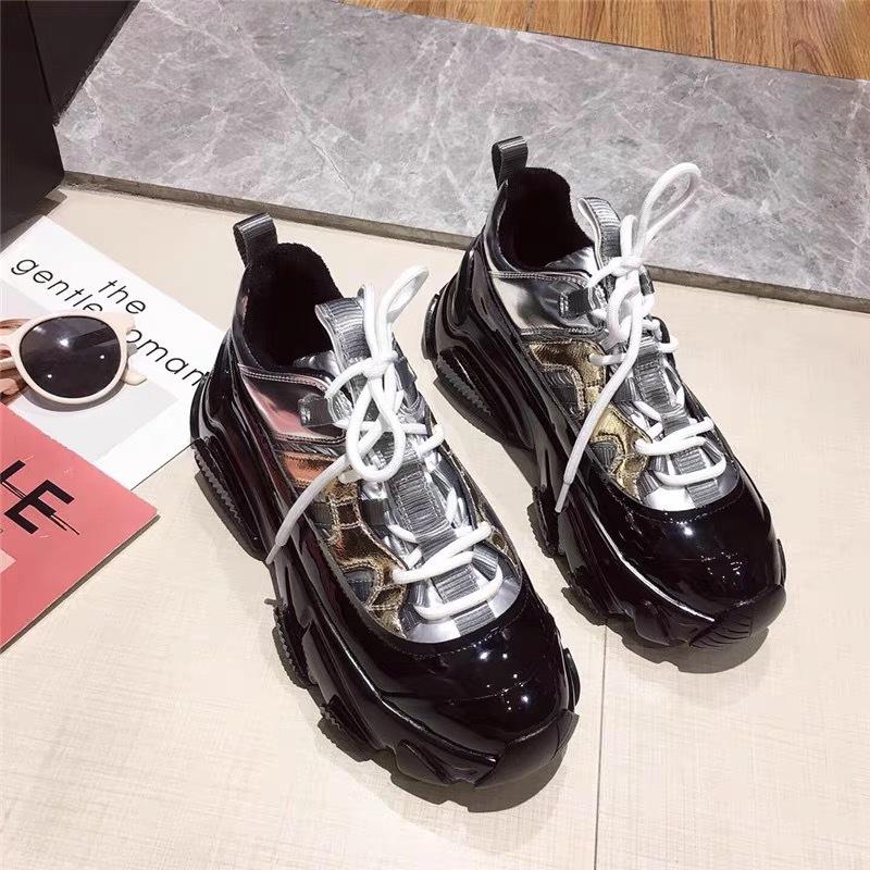 metallic design sneaker