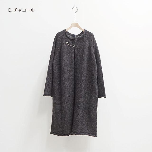 ichi イチ ハンドスピンヤーンロングカーディガン(PIN付き) (品番190768)