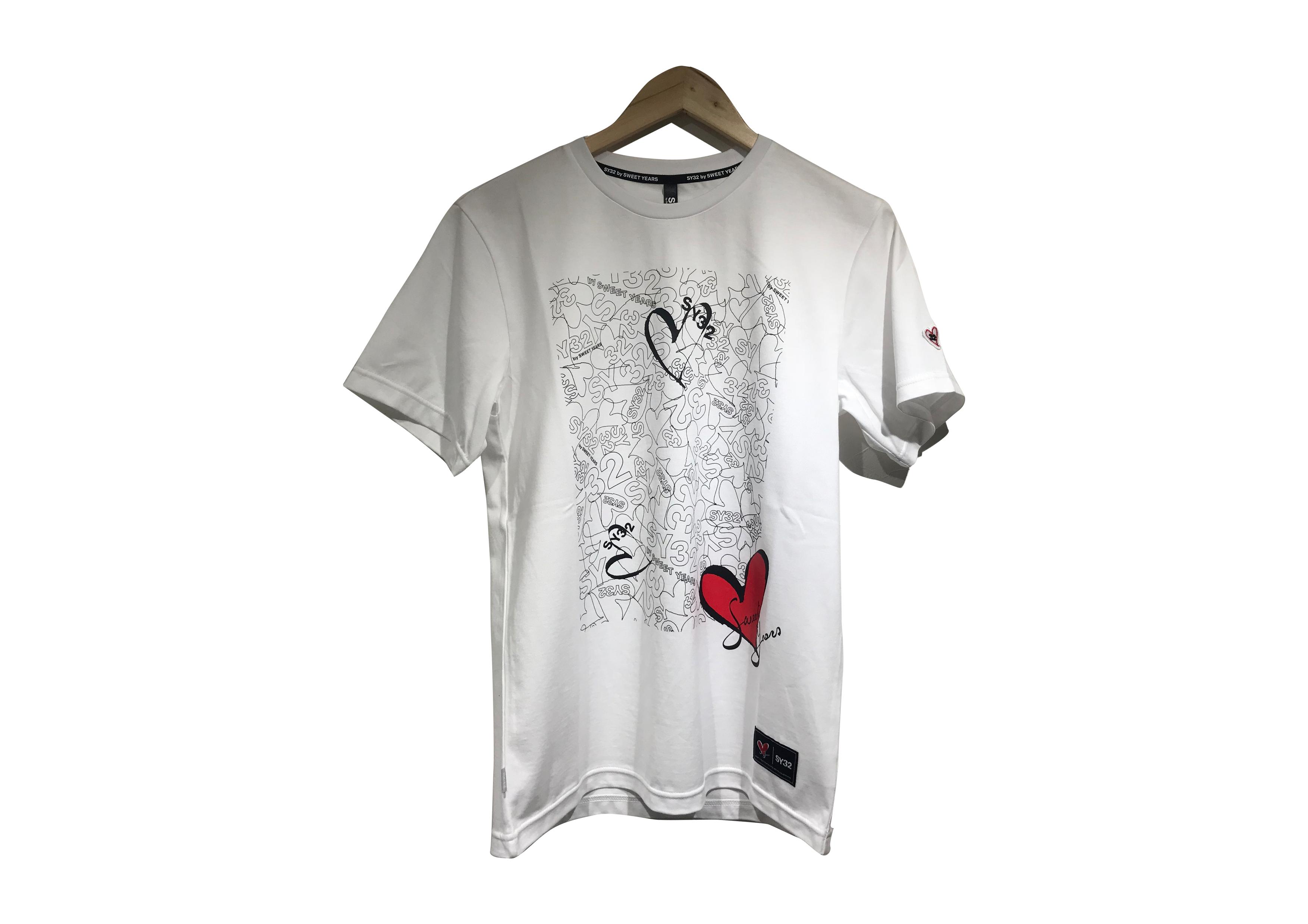 SY32 HEART LOGO LINE TEE(8063SY)