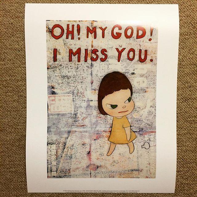 ポスター「奈良美智 OH! MY GOD! I MISS YOU.(28×35)」 - 画像1