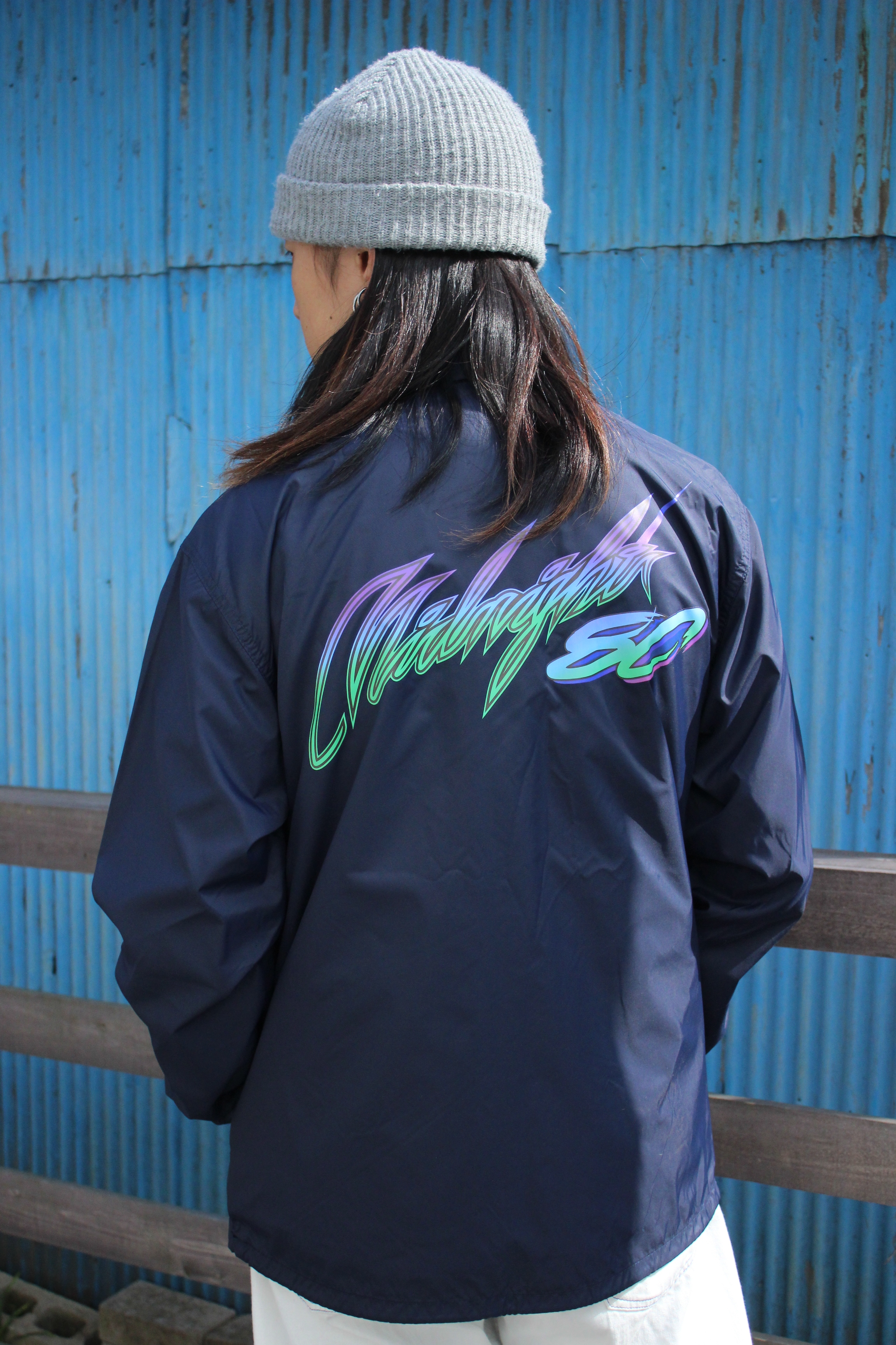 Midnight80 coach jacket / NAVY - 画像4