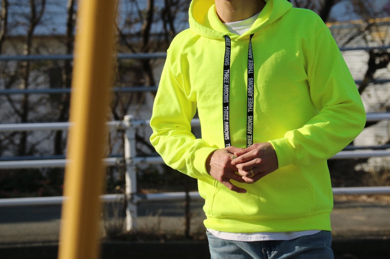 ThreeArrows Rubber Logo Foodie(neon yellow)