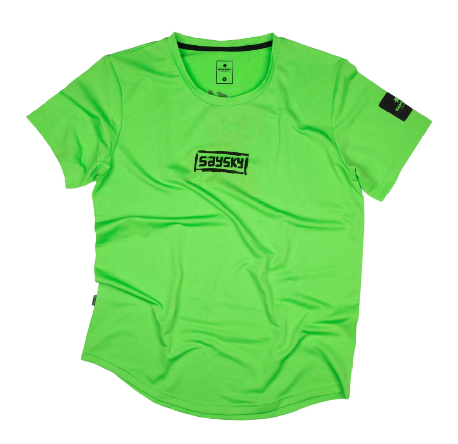 【NEW!】SAYSKY セイスカイ ランニングTシャツ FTN Combat Tee - GREEN FLASH [ユニセックス] FMRSS10