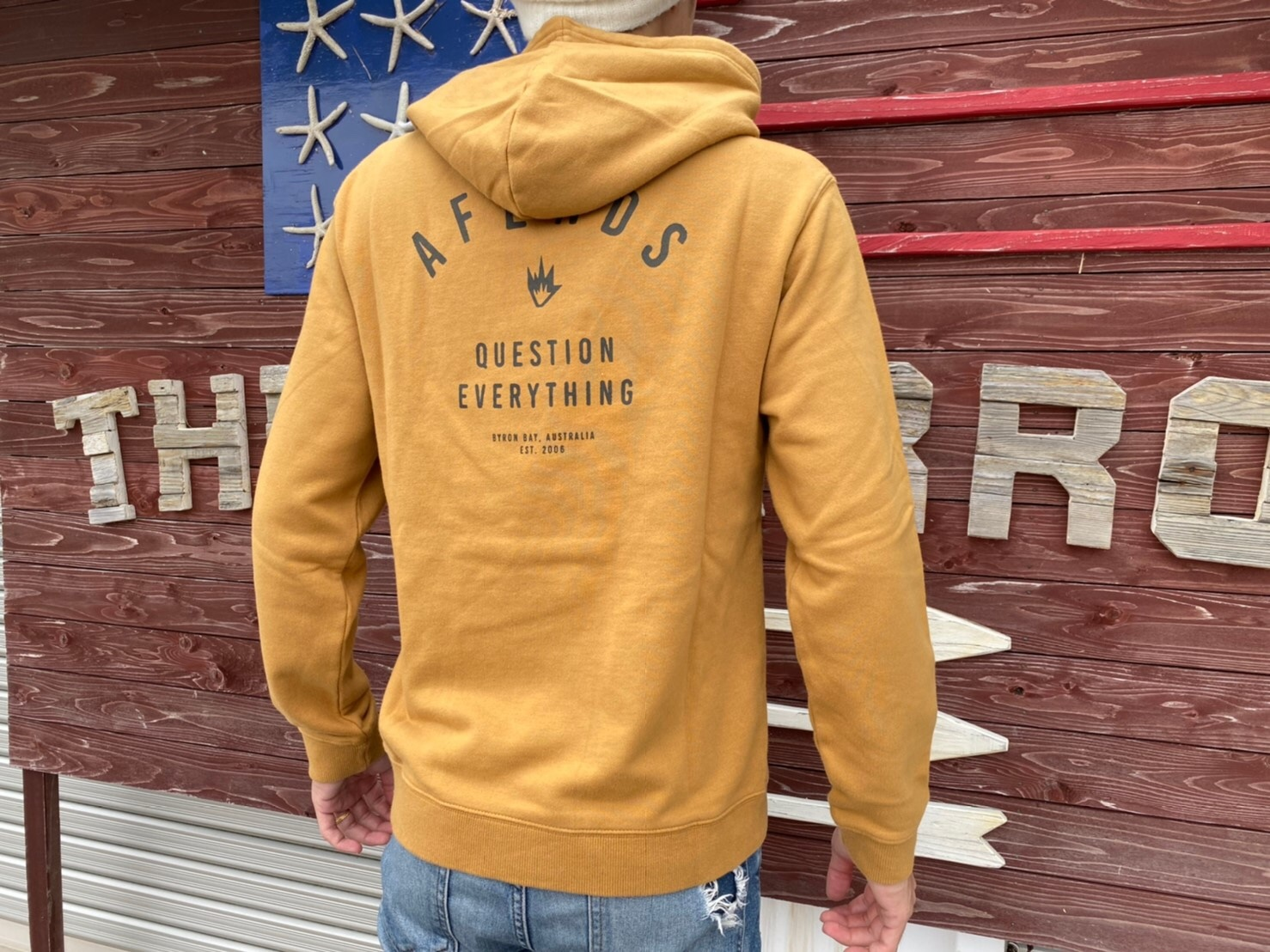 【Afends.】 PUBLIC PULL OVER HOOD (honey)