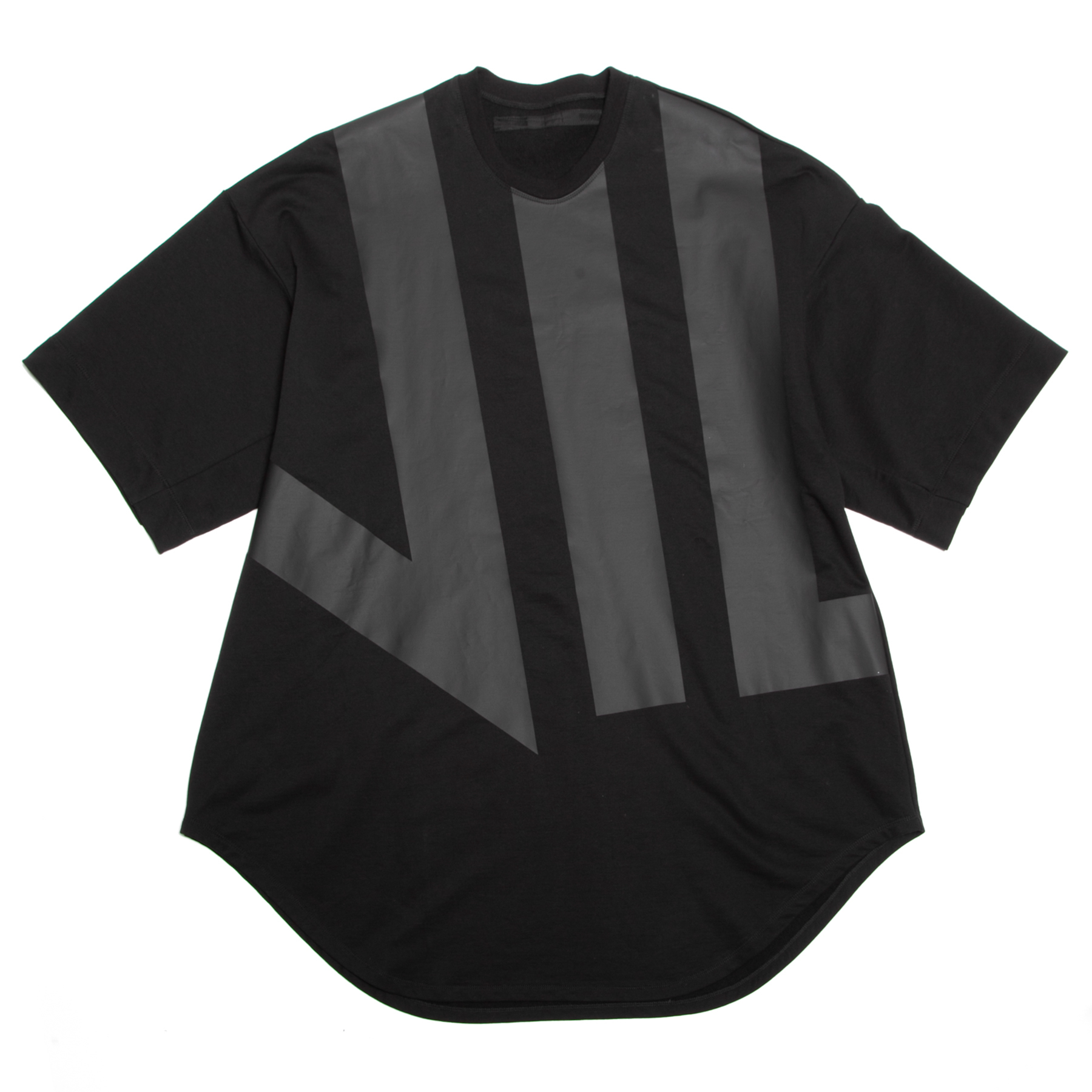 640CPM6-BLACK / 家紋ラウンドスウェットTシャツ