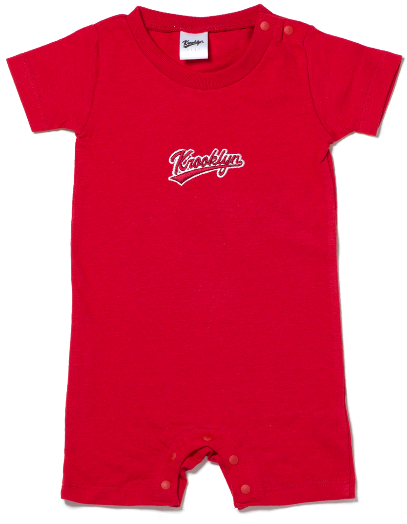 K'rooklyn Logo Baby Rompers - Red