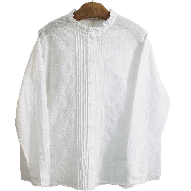 TINA and SUSIE ティナアンドスージー TS191016 水玉シトラス刺繍 フロントタックシャツ