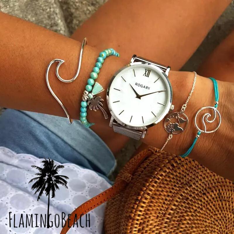 【FlamingoBeach】wave bracelet set ブレスレットセット