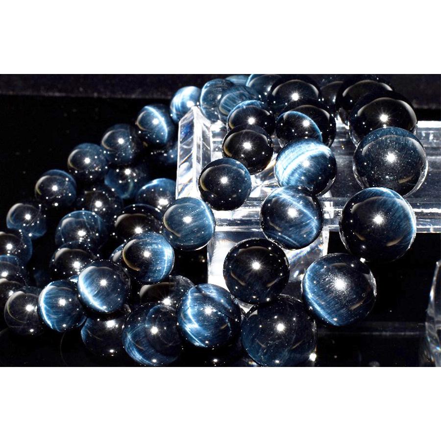 【決断と前進の象徴】天然石 高品質 ブルータイガーアイ 大玉青虎目石 ブレスレット(11.5mm)