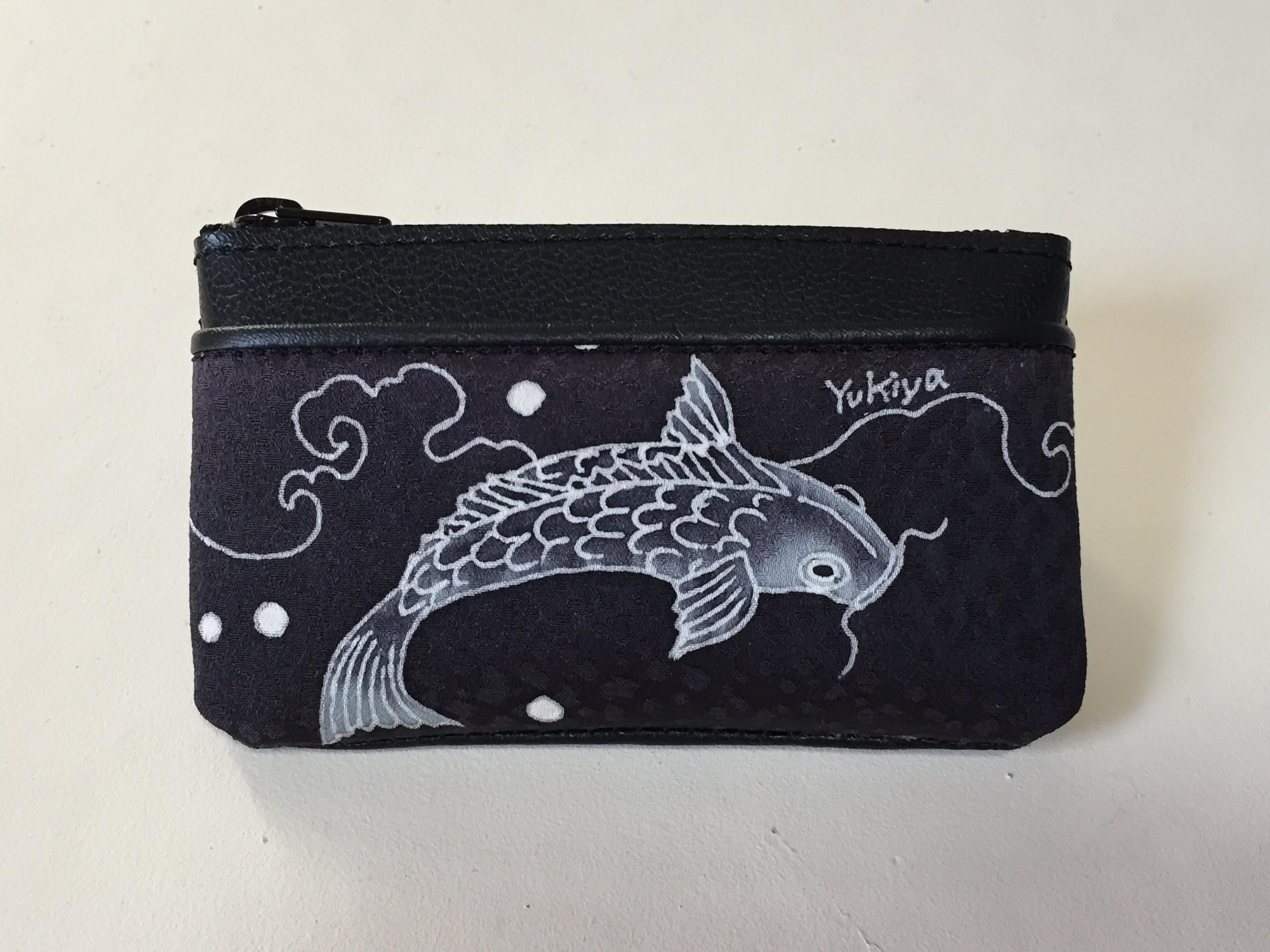 小銭入れ「鯉」黒