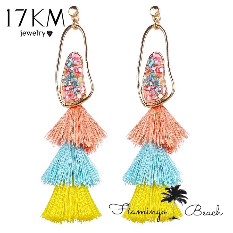 【FlamingoBeach】タッセルピアス