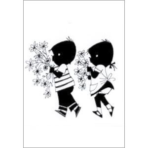 ポストカード お花を摘んだよ(FI_PO_00002)