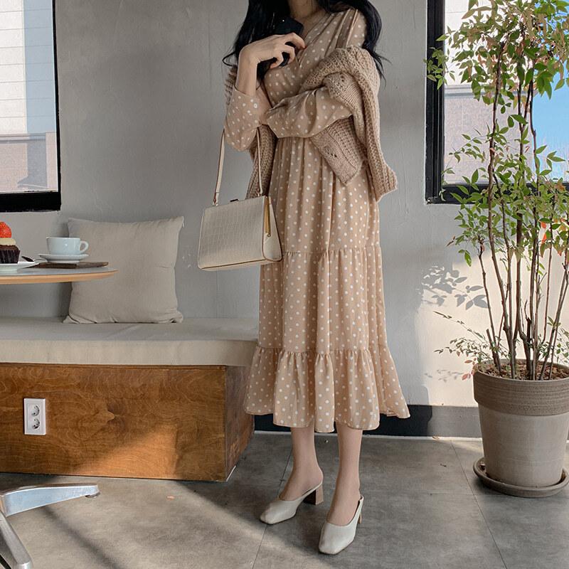 ドットのシフォンドレス【dot chiffon dress】