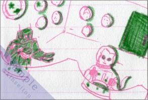 ポストカード - SF小説家のノート/宇宙旅行者たち - 金星灯百貨店