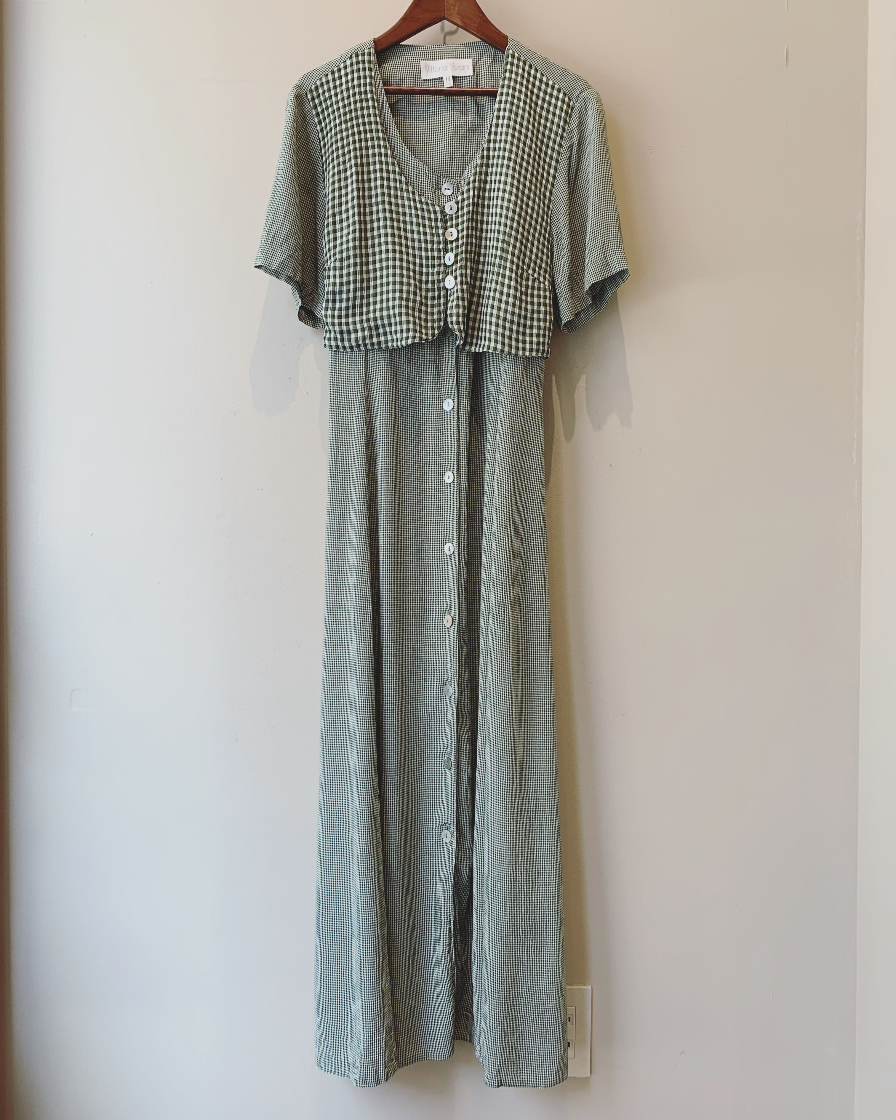 【sale】vintage gingham check onepiece