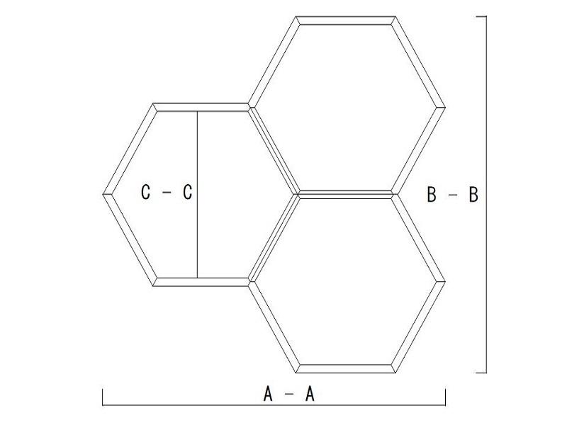 【6角形 壁掛けシェルフ】 - 画像5