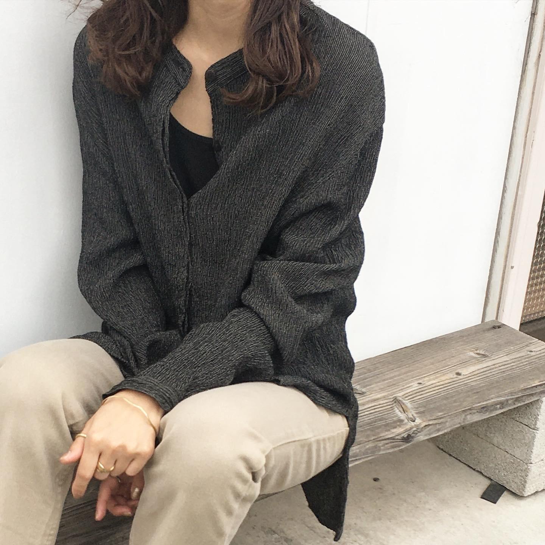 """USED """" Wool rayon Black Tunic / ウールレーヨン ブラックチュニック """""""