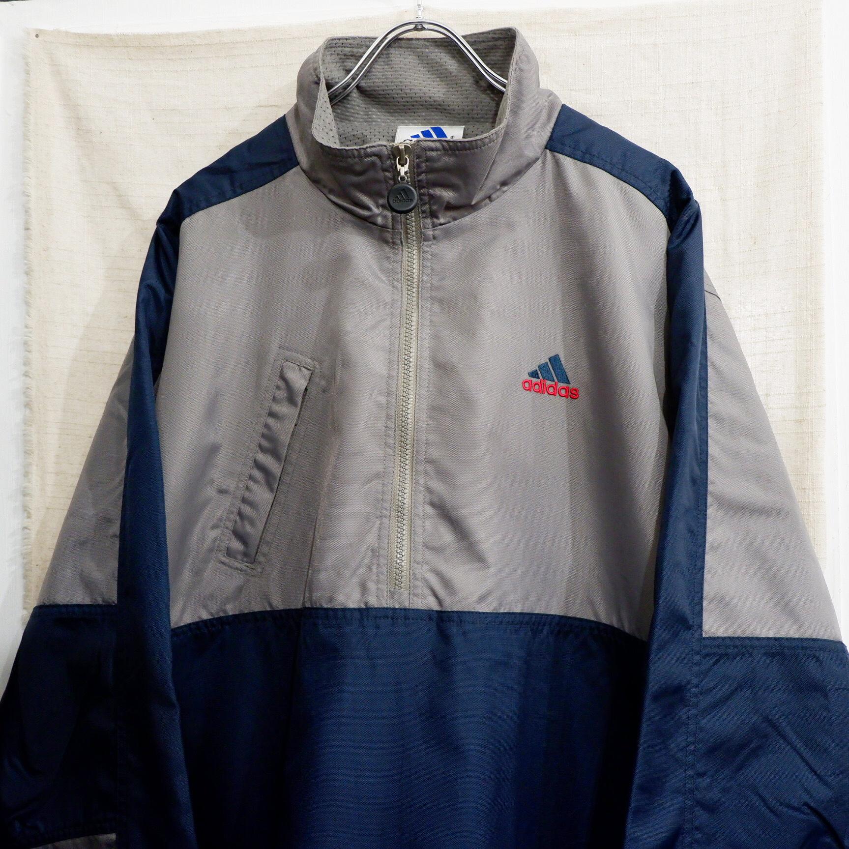 """アメリカ古着 1990s """"adidas"""" ナイロン アノラックジャケット"""