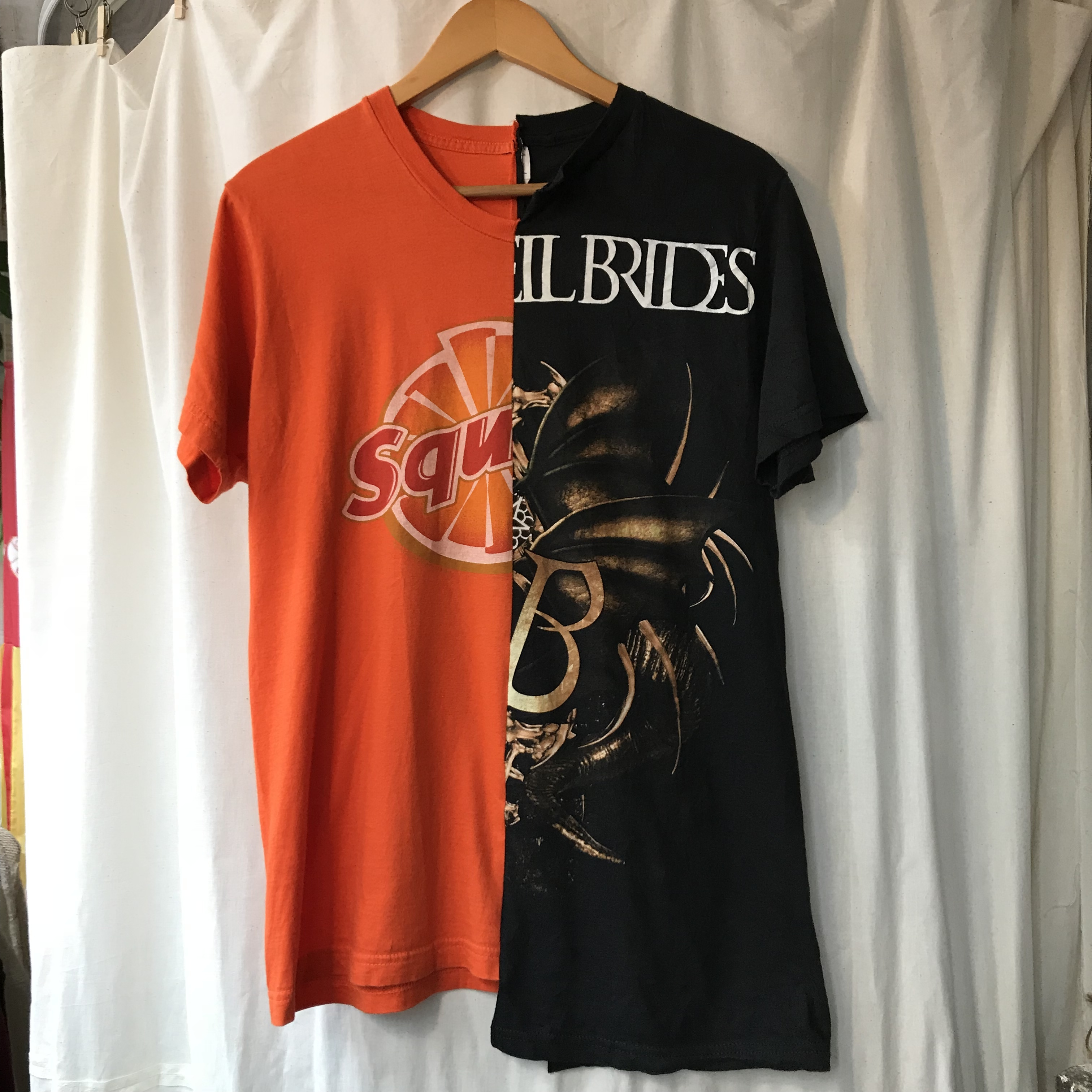 A Different Thing 古着リメイクアシンメトリーTシャツ メンズM