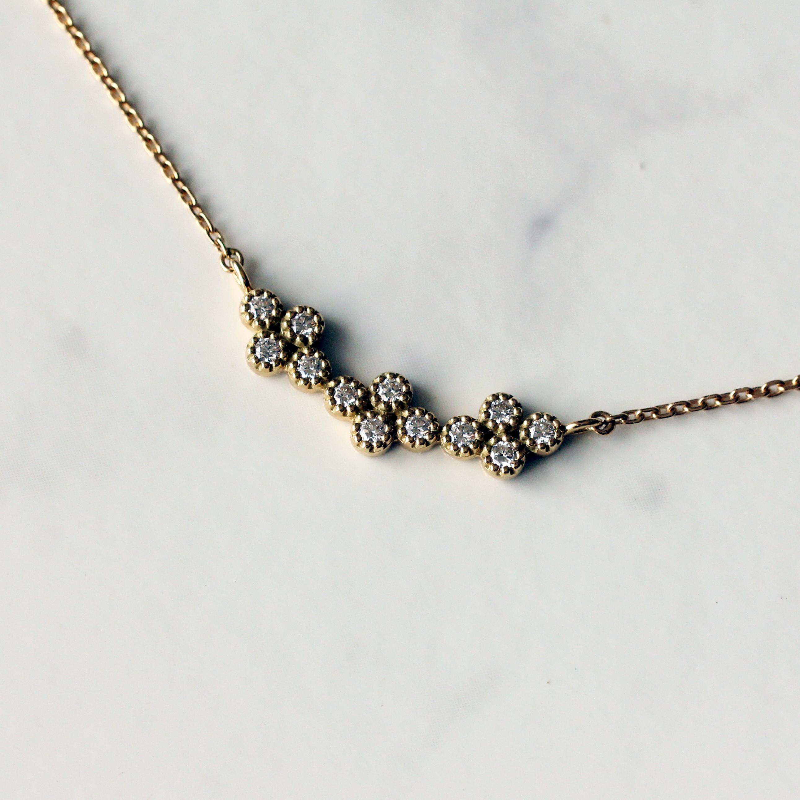 Quattro diamond necklace / K18