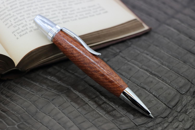 在庫あり「花梨/カリン 虎杢 特上 PTS567」希少木の手作りボールペン♪ジェットストリーム対応