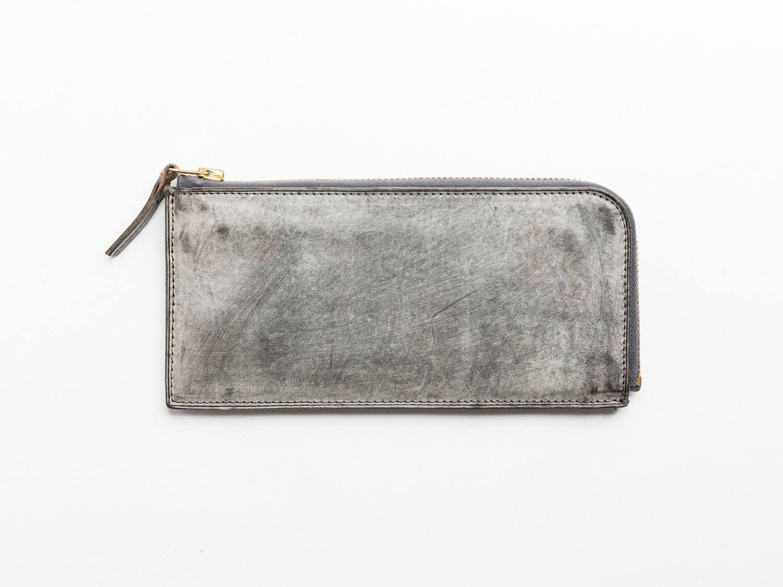 トワクレZipper Wallet Longダークグレー