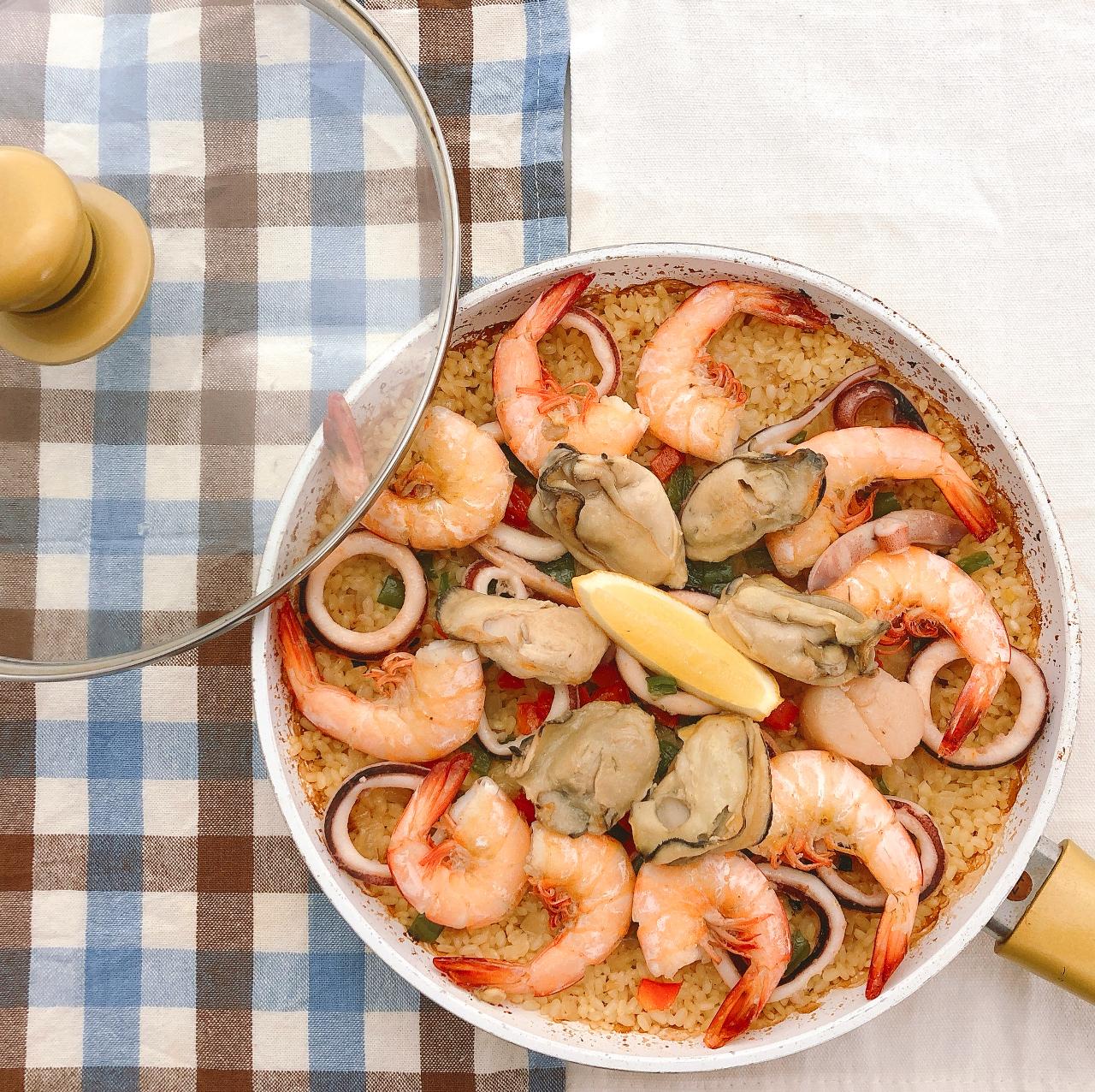牡蠣のパエリアセット