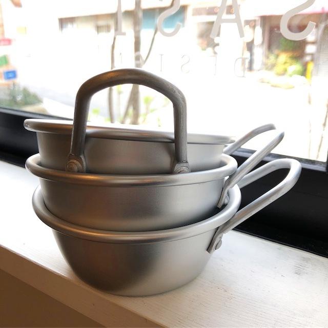 アルマイト韓国マッコリコップ 13cm シルバー ー松野屋ー