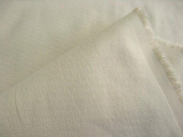 綿ストレッチ・二重織り接結ツイル 生成り CTN-0146
